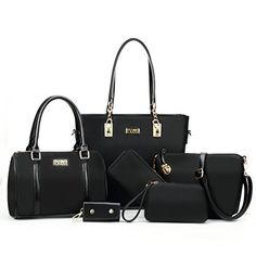 New Trending Tote Bags: Itscosy® OL Luxury Fashion Tote Top Handle Cross Body Shoulder Satchel Purse Handbag for Women 6 Piece Set Bags (Model 4-Black). Itscosy® OL Luxury Fashion Tote Top Handle Cross Body Shoulder Satchel Purse Handbag for Women 6 Piece Set Bags (Model 4-Black)  Special Offer: $39.90  177 Reviews 6 in 1 package only for you ladies! Convertible Bag With An Adjustable Strap You can easily transform your shoulder bag...