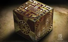 "Lemarchand was the box maker - this box is ""The box of Sorrows"" in its Lament configuration. Description from steelgohst.deviantart.com. I searched for this on bing.com/images"