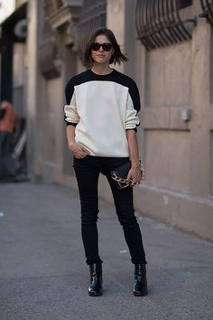 Emily Weiss in Céline #NYFW New York Street Style #Fashion Week Spring 2014 #Spring2014