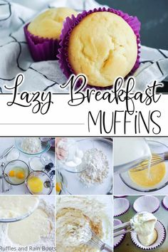 Vanilla Muffin Recipe, Simple Muffin Recipe, Breakfast Items, Breakfast Recipes, Other Recipes, Easy Recipes, Tasty Bites, How Sweet Eats, Muffin Recipes