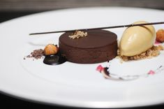 Manjari Chocolate, Black Cocoa, Malted Milk and Smoked Ice Cream
