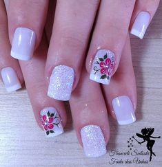 Pink Nail Art, Cute Acrylic Nails, Acrylic Nail Designs, Nail Art Designs, Hot Nails, Hair And Nails, Pretty Toe Nails, Elegant Nails, Perfect Nails