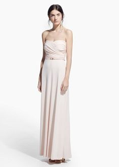 This pretty pastel pink dress from Mango will cost a fraction of the price of a designer d. Robes Rose Pastel, Bridesmaid Dresses, Prom Dresses, Formal Dresses, High Street Dresses, Drape Gowns, Dress Rental, Cheap Dresses, Dress For You