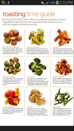 Guide to Roasting Vegetables - Diabetic Living Magazine This might get me to eat more veggies. Veggie Recipes, Whole Food Recipes, Vegetarian Recipes, Cooking Recipes, Healthy Recipes, Cooking Tips, Food Tips, Roasted Vegetable Recipes, Cooking Classes