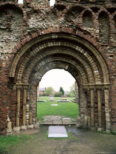 St Botolph's Priory, Colchester, Essex, England. Dates from the Norman times.