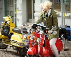 Driving a Vespa is definitely a whole lot about style,'' she explained. The Vespa was the very first globally prosperous scooter. A scooter is the fin...