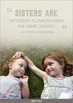 Love this! 20 lovely quotes about #sisters