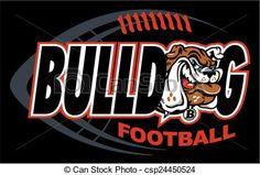 Vector - bulldog football - stock illustration, royalty free illustrations, stock clip art icon, stock clipart icons, logo, line art, EPS picture, pictures, graphic, graphics, drawing, drawings, vector image, artwork, EPS vector art