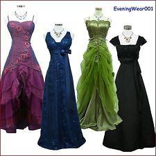 ab25b3a2d8 Cherlone Satin Ball Long Gown Lace Formal Prom Wedding Evening Bridesmaid  Dress  Cherlone