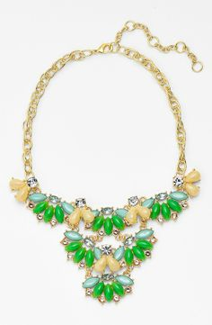 Sparkly piece for summer! Love this green and mint stone necklace.