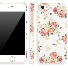 Akna Retro Floral Series Vintage Flower Pattern Semi-soft Back Case for iPhone 5 5S [Classic White] ($11) found on Polyvore featuring accessories, tech accessories, phone cases, phone, iphone and electronics
