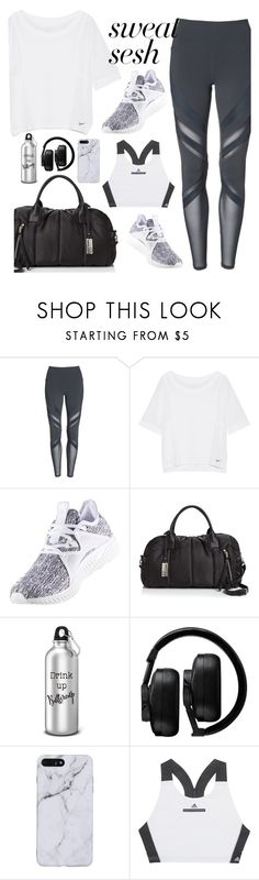 """Gym"" by keila-ayala ❤ liked on Polyvore featuring Alo, NIKE, adidas, Sol & Selene, Master & Dynamic, StreetStyle, ootd and fashionset"