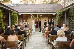 Cam and Ashleigh's ceremony. — at Gunners Barracks, Mosman NSW.