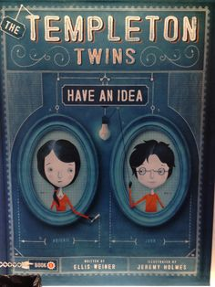 The Templeton Twins Have an Idea, by Ellis Weiner – two pragmatic twins figure out how to foil their kidnapper. Note the graph paper background and Rube Goldberg light switch. Rube Goldberg, Best Book Covers, Graph Paper, Paper Background, Cover Design, Good Books, Magazines, Journals, Twins