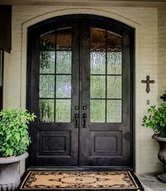 There's something about an arched entry door...