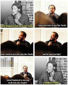 Hahaha! Omg! Too funny! Yes Jared your a bit too big