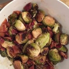 Maple Roasted Brussels Sprouts with Bacon - Allrecipes.com