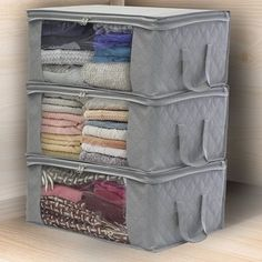 Sorbus Foldable Storage Bag Organizers Large Clear Window & Carry Handles for Clothes Blankets Closets Bedrooms and More Pack Beige) 1 Section Storage Sets, Under Bed Storage, Closet Storage, Storage Containers, Bag Storage, Storage Organizers, Dorm Storage, Shelf Organizer, Wardrobe Storage