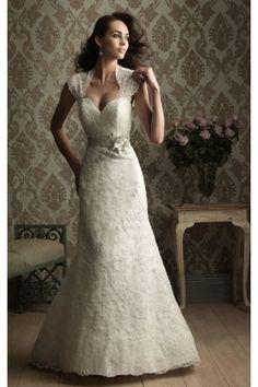 Modest Lace Sleeveless Straps Column Court Train Column Wedding Dresses