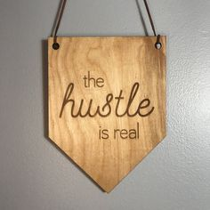 Excited to share the latest addition to my #etsy shop: The Hustle is Real Wall Hanging. Wood Pennant. Wood Banner. Laser Cut Wood Banner. Wall Hanging. Motivational Banner. Office Decor. #homedecor #woodpennant #wallhanging #woodbanner #thehustleisreal #officedecor #smallbusiness