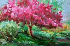 "Daily+Paintworks+-+""Spring+Tree+-++and+Memories""+-+Original+Fine+Art+for+Sale+-+©+Mary+Maxam"