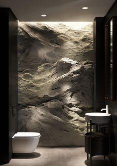 Shaken not Stirred Apartment in the Dnipro - Haus design - Bathroom Decor Modern Bathroom Design, Bathroom Interior Design, Modern House Design, Modern Interior, Interior Architecture, Interior And Exterior, Luxury Bedroom Design, Black Interior Design, Futuristic Interior
