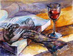 Olga Vinnitskaya. Aquarellfarben. Collage auf Papier.