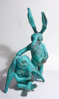 'Hare Pair', 2015 - by Annie McIver  | sculpture