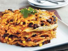 "Think outside the ""dish."" You can enjoy the flavor and texture of enchiladas in a slow cooker; just stack the tortillas instead of rolling them. We suggest lining your slow cooker with a slow-cooker bag so you can easily remove the stack from the cooker. Cooking For One, Healthy Cooking, Cooking Tips, Cooking Recipes, Lunch Recipes, Easy Cooking, Healthy Recipes, Chicken Enchilada Casserole, Chicken Enchiladas"