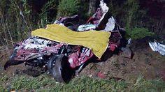 Acidente em Canoinhas deixa 5 mortos e um gravemente ferido