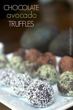 Chocolate Avocado Truffles - This easy dessert recipe is super healthy, gluten-free, vegan, and paleo.