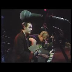 This bit makes me laugh the most.  You see Dave looking at someone at the crowd, nodding and pointing the manual. Approving the Captain's dreadful solo. #liveperformance #favouriteperformance #completelydone #offtheirheads #cocaine #thedamned #captainsensible #davdvanian #ijustcantbehappytoday #keyboardsolo #messedupsolo #loveitanyway