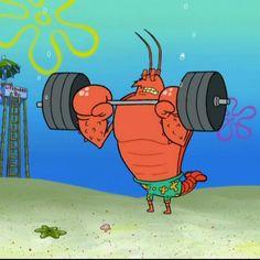 Larry the lobster and Spongebob and Patrick | Spongebob ...