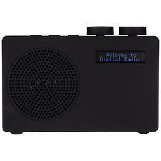 Buy Black John Lewis Spectrum DAB/FM Digital Radio from our Radios range at John Lewis & Partners. Dab Radio, Digital Radio, John Lewis, Spectrum, Radios, Living Room, Stuff To Buy, Alps, Black