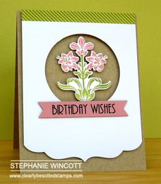 Clearly Besotted Stamps Nouveau Flowers | Clearly Besotted Stamps