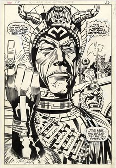 A page from THOR #175 by Jack Kirby and Bill Everett. Kirby's border note reads; YOU ARE NOW MY SUBJECT