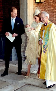 The future King of England is Baptized