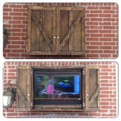 Our new custom outdoor TV cabinet!