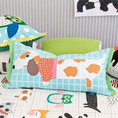 I like the owl/dog crib bedding. Random but cute.