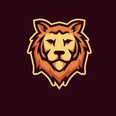 Leon Logo, Lion Forearm Tattoos, Sports Team Logos, Game Logo Design, Esports Logo, Background Design Vector, Premium Logo, Cat Logo, Logo Sticker