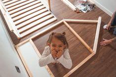 Cama casita Montessori - Hack Ikea KURA - My family Trip Ikea Montessori, Ikea Toddler Bed, Kura Cama Ikea, Kura Bed, Baby Room Diy, Baby Bedroom, Girl Nursery, Girl Room, Hack Ikea