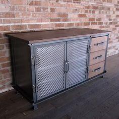 (2) Mesa Consola Tv Multimedia Industrial Vintage Rustico Retro - $ 12.500,00 en Mercado Libre