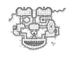 Xc-K3-Temple- Kosmic Dungeon- #rpg #map #jdr #dnd #osr