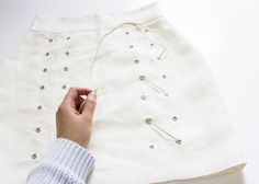 Lace it up with this super easy skirt DIY on the blog now