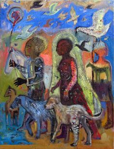 """""""Any God I ever felt in church I brought in with me."""" ~Alice Walker     Painting by Elisabeth Slettnes"""