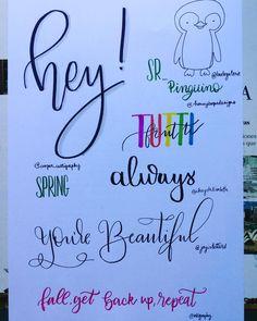 Today's practice inspired in works from lettering artists I admire @buntegalerie @honeybopsdesigns @chrystalizabeth @cooper_calligraphy @joyinletters @inkgraphy . . . . #alphabet #brushpen #brushpencalligraphy #brushpenlettering #brushcalligraphy #brushlettering #calligraphy #calligraphylove #calligraphypen  #color #colors #colour #colours #handcalligraphy #handlettered #handlettering  #handletteringpractice #handwriting  #handmade #handtype #ilovepens #lettering #letteringaddict…