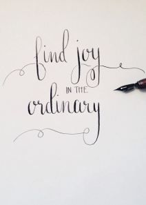 Find joy in the ordinary - hand lettering The Words, Cool Words, Great Quotes, Quotes To Live By, Inspirational Quotes, Motivational, Super Quotes, Pretty Words, Beautiful Words
