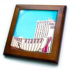 Circus, Circus in a Bubble on The Las Vegas Strip in Nevada Framed Tile