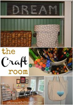 How to organize the craft room.  #athomewiththebarkers