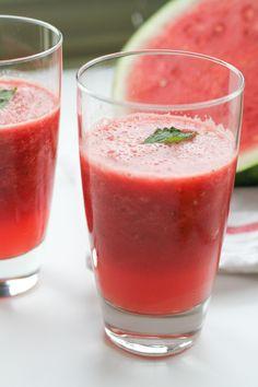 watermelon ginger mint slush [ inthiskitchen.com ] - summer watermelon slushie recipe on the blog!
